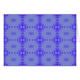 Blue bursts pattern note card