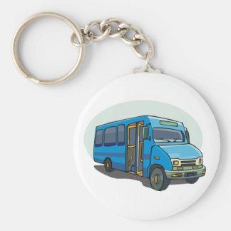 Blue Bus Keychain
