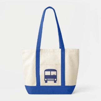 Blue Bus Tote Bag