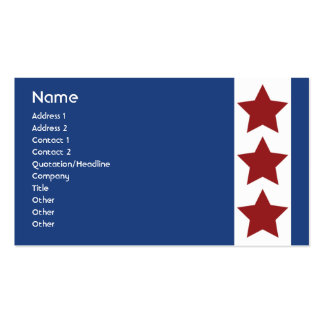 Blue - Business Double-Sided Standard Business Cards (Pack Of 100)