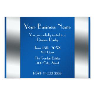 "Blue Business invitation 5"" X 7"" Invitation Card"