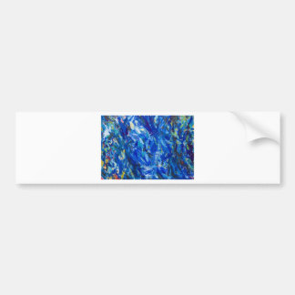 Blue Bust (abstract expressionism) Bumper Sticker