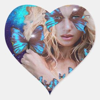 BLUE BUTERRFLY BEAUTY MAKEUP ARTIST STICKER