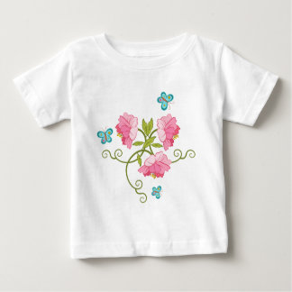 Blue butterflies and peonies baby T-Shirt