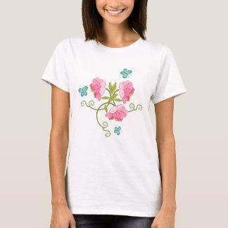 Blue butterflies and peonies T-Shirt