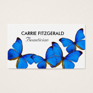 Blue Butterflies, Beautician Business Card