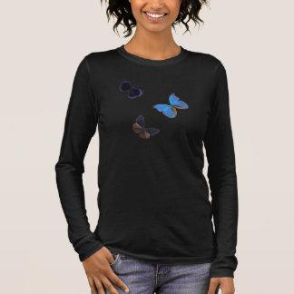 "blue butterflies ""Dreams require wings"" Long Sleeve T-Shirt"