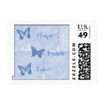 Blue Butterflies Hope Faith Love Postage Stamps