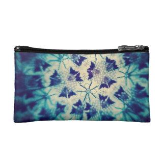 Blue Butterflies Kaleidoscopic Cosmetic Bag