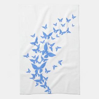 Blue Butterflies Kitchen Towel