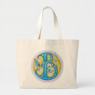 Blue Butterflies Love Ballet Large Tote Bag