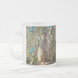 Blue_Butterflies,_Meerkat,_Frosted_Beer_Mug. Frosted Glass Coffee Mug