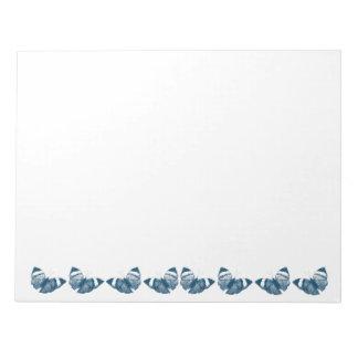 Blue Butterflies Memo Pad