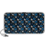Blue Butterflies Notebook Speaker