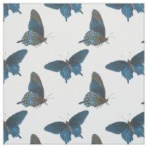 blue butterflies novelty fabric