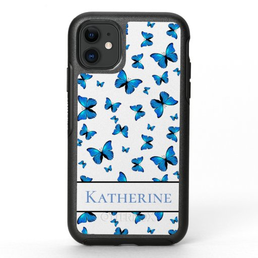 Blue butterflies OtterBox symmetry iPhone 11 case