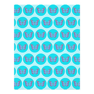 Blue butterflies pattern flyer