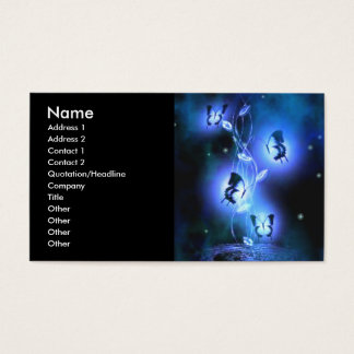 Blue Butterflies Profile Card