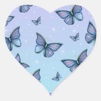 Blue Butterflies Stickers