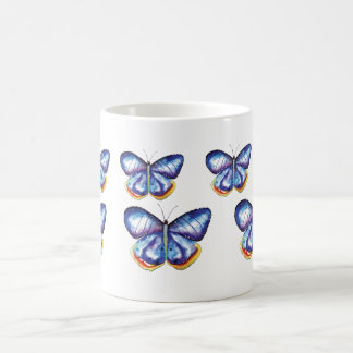 Blue Butterflies Watercolor Nature  Insects  Mug