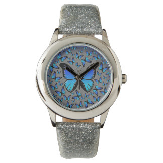 blue butterflies wrist watches