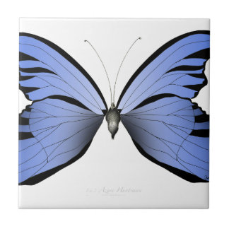 Blue Butterfly 1 Azure Huntsman Ceramic Tile