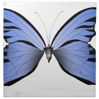 Blue Butterfly 1 Azure Huntsman Cloth Napkin