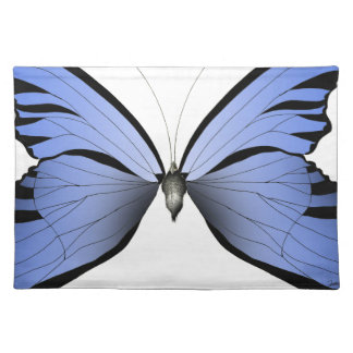 Blue Butterfly 1 Azure Huntsman Cloth Placemat