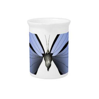 Blue Butterfly 1 Azure Huntsman Drink Pitcher