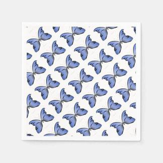 Blue Butterfly 1 Azure Huntsman Paper Napkin