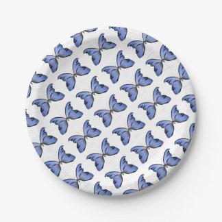 Blue Butterfly 1 Azure Huntsman Paper Plate