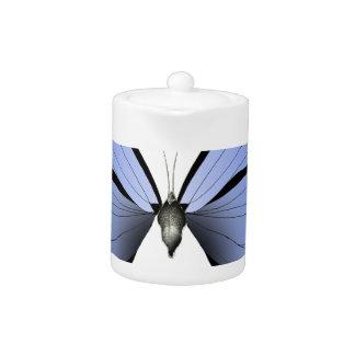 Blue Butterfly 1 Azure Huntsman Teapot