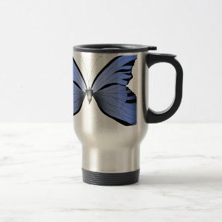 Blue Butterfly 1 Azure Huntsman Travel Mug