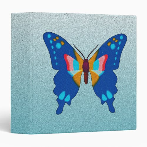 Blue Butterfly 3 Ring Binder