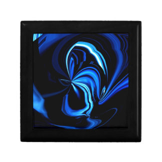 Blue Butterfly Abstract Jewelry Box