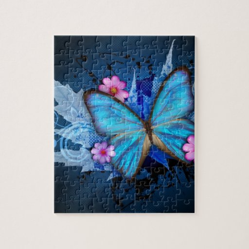 Blue-Butterfly-Abstract.jpg Puzzle