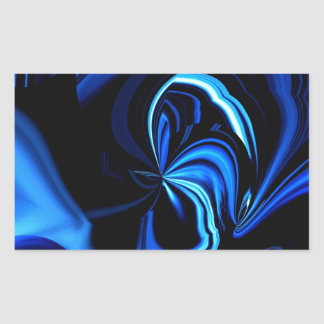 Blue Butterfly Abstract Rectangular Sticker