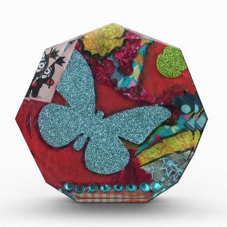 Blue Butterfly Acrylic Award