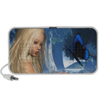 Blue Butterfly and Water Nymph - 2 iPhone Speakers