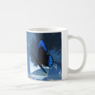 Blue Butterfly and Water Nymph - 2 Mug