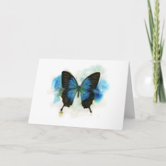 Blue Butterfly Any Occasion Stationery Note Card