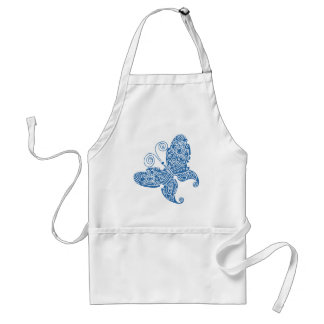 Blue Butterfly Apron