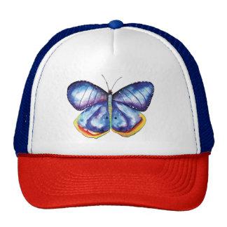 Blue Butterfly Art Painting Trucker Hat