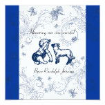 "Blue Butterfly Baby Shower invitation 5.25"" Square Invitation Card"