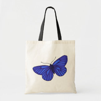 Blue Butterfly Budget Tote Bag