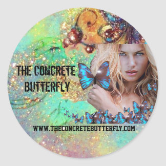 BLUE BUTTERFLY BEAUTY MAKEUP ARTIST 2 CLASSIC ROUND STICKER
