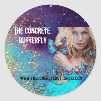 BLUE BUTTERFLY BEAUTY MAKEUP ARTIST 3 CLASSIC ROUND STICKER
