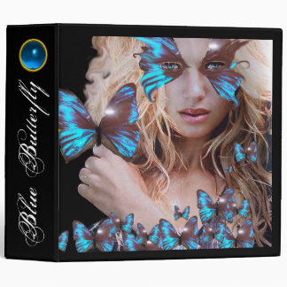 BLUE BUTTERFLY  BEAUTY, MAKEUP ARTIST 3 RING BINDER