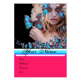 BLUE BUTTERFLY BEAUTY SALON,MAKEUP ARTIST monogram Business Cards