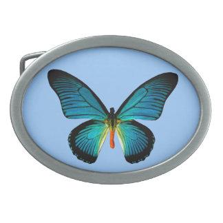 Blue Butterfly Belt Buckle
